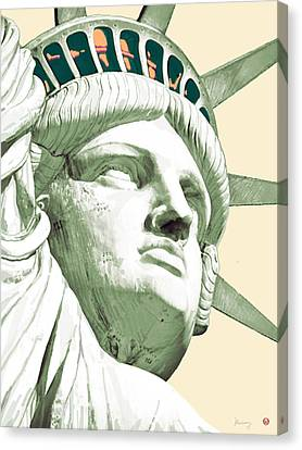Statue Liberty - Pop Stylised Art Poster Canvas Print