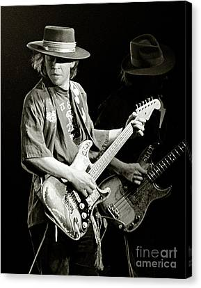 Marquette Canvas Print - Stevie Ray Vaughan 1984 by Chuck Spang
