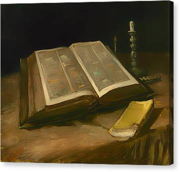 Still Life With Bible Canvas Print by Mountain Dreams