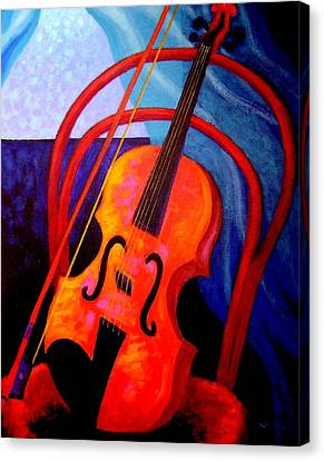 Still Life With Violin Canvas Print by John  Nolan