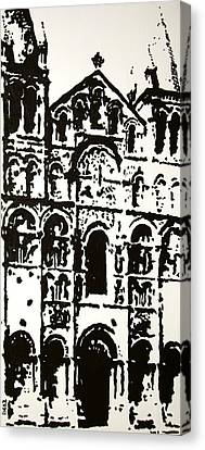 City Scenes Canvas Print - Stonework by Oscar Penalber