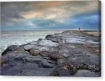 Storm Blowing Out Canvas Print by Geoff Crego
