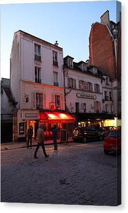 Street Scenes - Paris France - 01133 Canvas Print