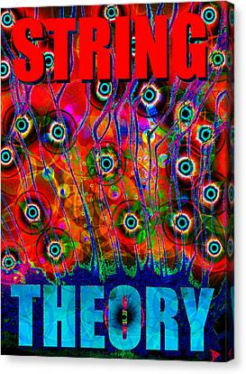 Cosmology Canvas Print - String Theory by David Lee Thompson