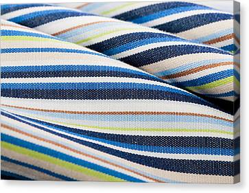 Striped Material Canvas Print by Tom Gowanlock