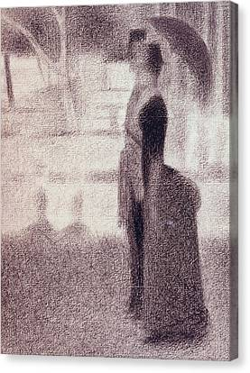 Seurat Canvas Print - Study For Sunday Afternoon On The Island Of La Grande Jatte by Georges Pierre Seurat
