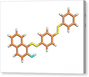 Sudan Red Canvas Print - Sudan 3 Molecule by Dr. Tim Evans