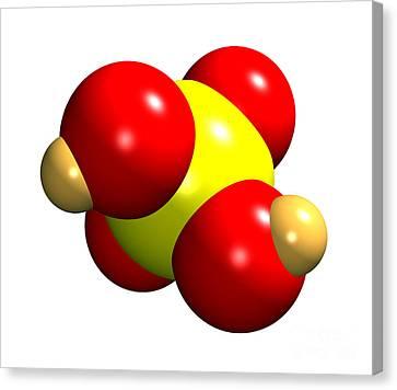 Sulphuric Acid Molecule Canvas Print