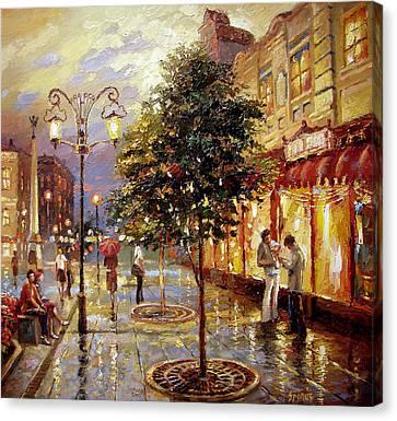 Summer Evening Canvas Print by Dmitry Spiros