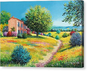 Chateau Canvas Print - Summer House by Jean-Marc Janiaczyk