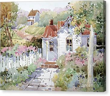 Rural Landscapes Canvas Print - Summer Time Cottage by Joyce Hicks