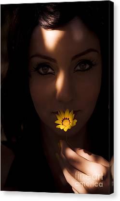 Hidden Face Canvas Print - Sun Flower by Jorgo Photography - Wall Art Gallery