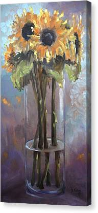 Sunflower Bouquet Canvas Print by Donna Tuten