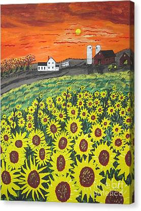 Sunflower Valley Farm Canvas Print