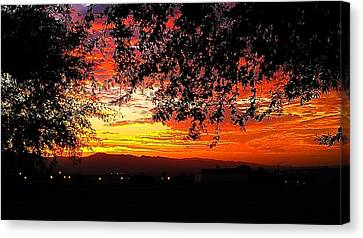 Canvas Print featuring the photograph Sunrise by Chris Tarpening