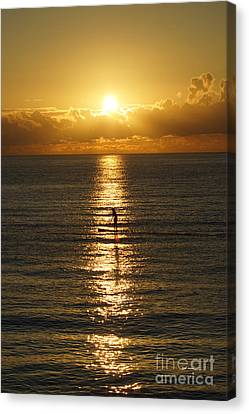 Canvas Print featuring the photograph Sunrise In Florida Riviera by Rafael Salazar