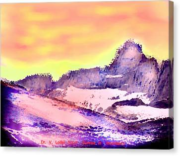 Sunrise In Mountains Canvas Print by Dr Loifer Vladimir