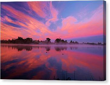 Sunrise Over Lake Rotoroa, Hamilton Canvas Print