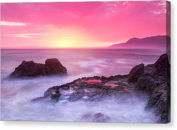Sunset At Shelter Cove Canvas Print by Chris Frost
