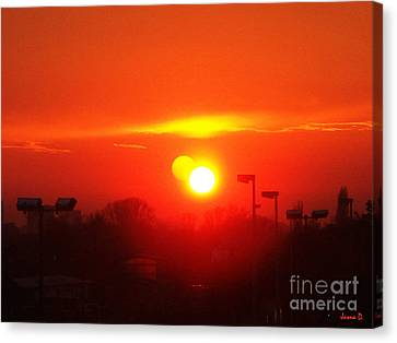 Canvas Print featuring the photograph Sunset by Jasna Dragun