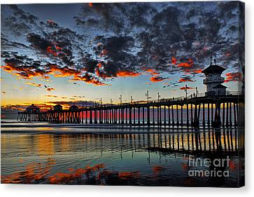 Sunset Canvas Print by Peter Dang