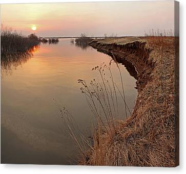 Sunset  River Panorama Canvas Print by Vitaliy Gladkiy