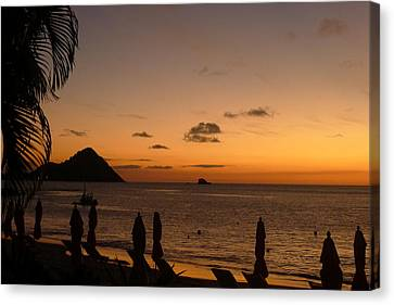 Sunset - St. Lucia Canvas Print