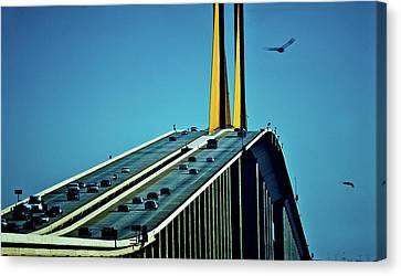 Sunshine Skyway Bridge Spanning Tampa Canvas Print