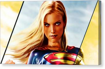 Supergirl Canvas Print by Marvin Blaine