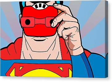 Superman 6  Canvas Print by Mark Ashkenazi