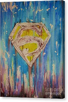 Superman's Shield Canvas Print by Justin Moore