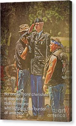Support Our Troops Canvas Print by Tom Gari Gallery-Three-Photography