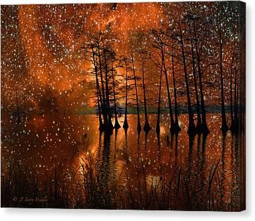 Surrealistic Sunrise Canvas Print by J Larry Walker