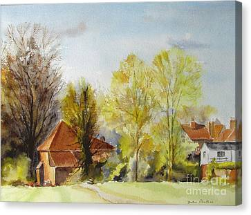 Canvas Print featuring the painting Sweet England by Beatrice Cloake