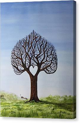Jack Brauer Canvas Print - Sweetheart Tree by Jack G  Brauer