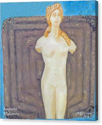 Larnaca Canvas Print - Symbol Of Fertility And Goddess Aphrodite by Augusta Stylianou