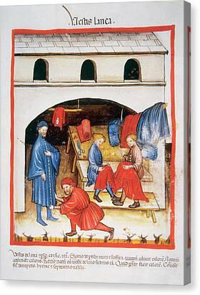 Tacuinum Sanitatis, Medieval Health Canvas Print by Prisma Archivo