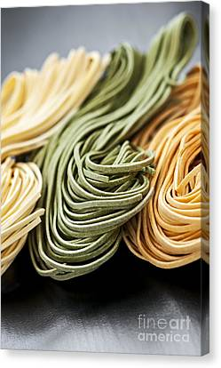 Spinach Canvas Print - Tagliolini Pasta by Elena Elisseeva