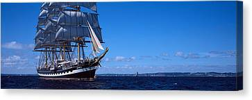 Tall Ships Race In The Ocean, Baie De Canvas Print