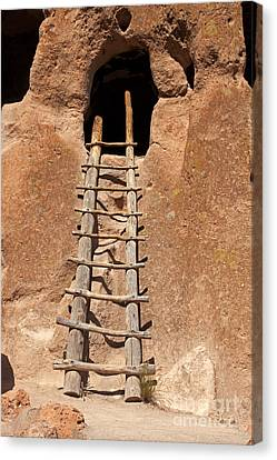 Talus House Front Door Bandelier National Monument Canvas Print