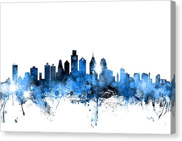 Tampa Florida Skyline Canvas Print by Michael Tompsett