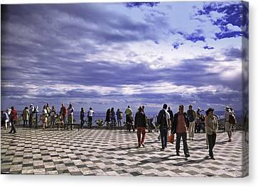 Taormina Tourists Vii Canvas Print
