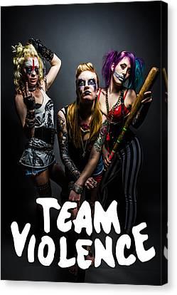 Team Violence Canvas Print by Kyle James-Patrick