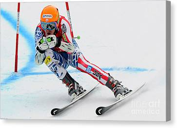 Ted Ligety Skiing  Canvas Print by Lanjee Chee