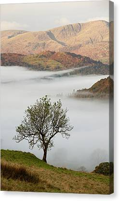 Temperature Inversion Over Ambleside Canvas Print by Ashley Cooper