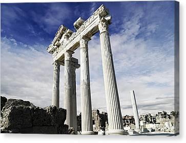 Temple Of Apollo In Side Canvas Print