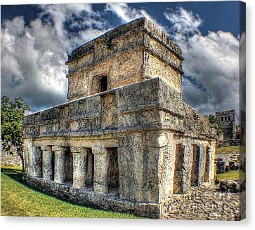 Temple Of The Frescos - Tulum Canvas Print by Ines Bolasini