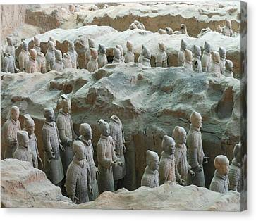 Canvas Print featuring the photograph Terracotta Army by Kay Gilley