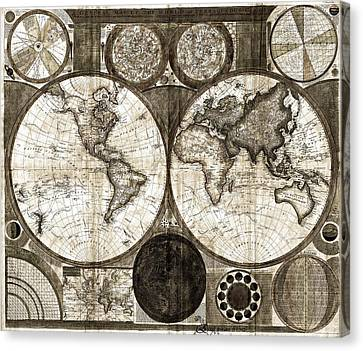 Terraqueous Globe - Map Of The World Canvas Print by EricaMaxine  Price
