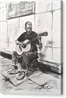 The Acoustic Man Canvas Print